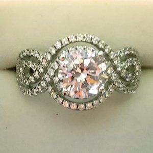 High End Cubic Zirconia fancy engagement/promise